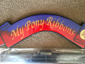 My PONY Ribbons RED AND BLUE
