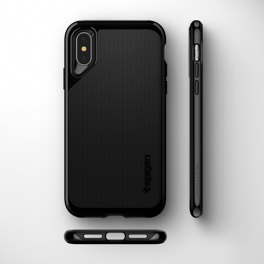 new product 56f24 53081 Spigen iPhone XS Max Case Neo Hybrid Jet Black – e4Everything.pk