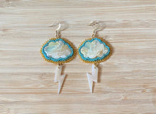 Load image into Gallery viewer, Stormcloud signature beaded earrings
