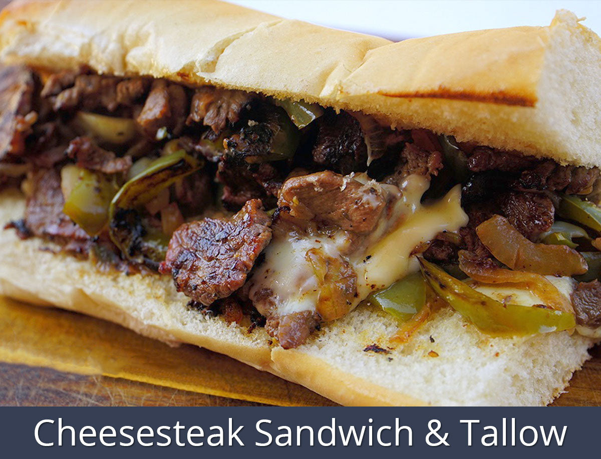 Cheesesteak Sandwich & Tallow Recipe | SnS Grills