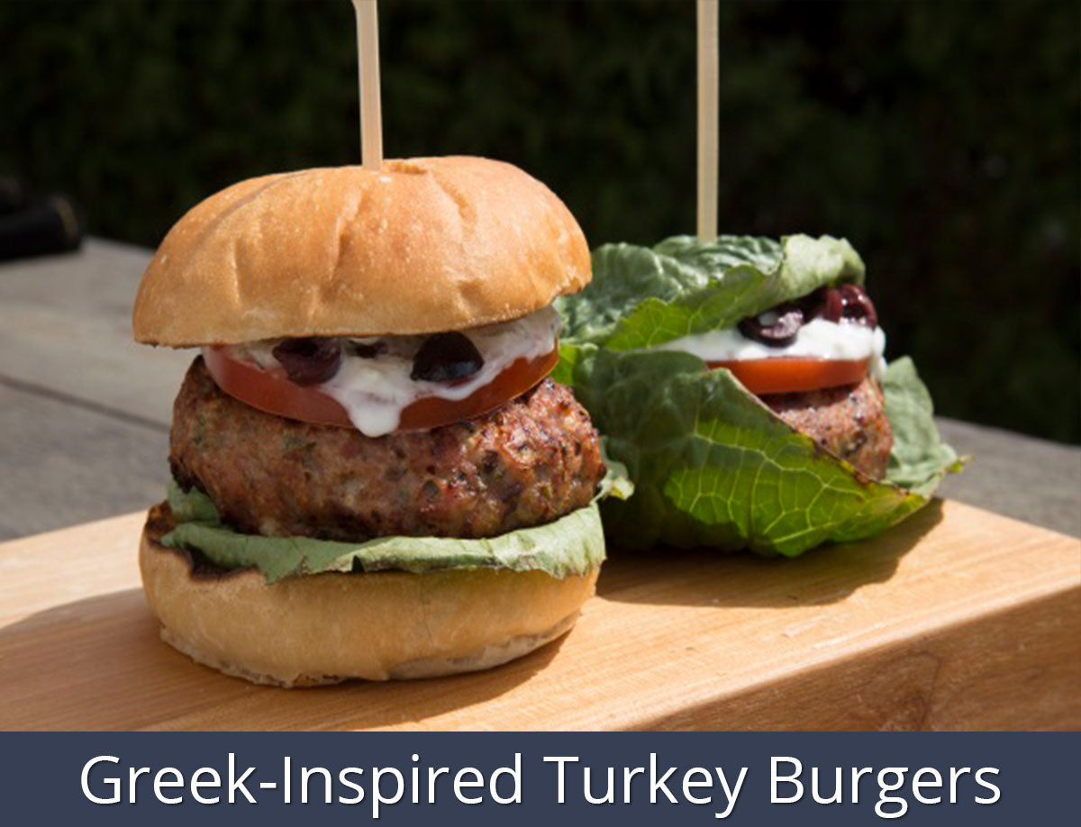 Greek-Inspired Turkey Burgers | SnS Grills
