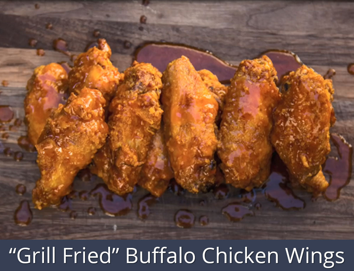 """Grill Fried"" Buffalo Chicken Wings Recipe 