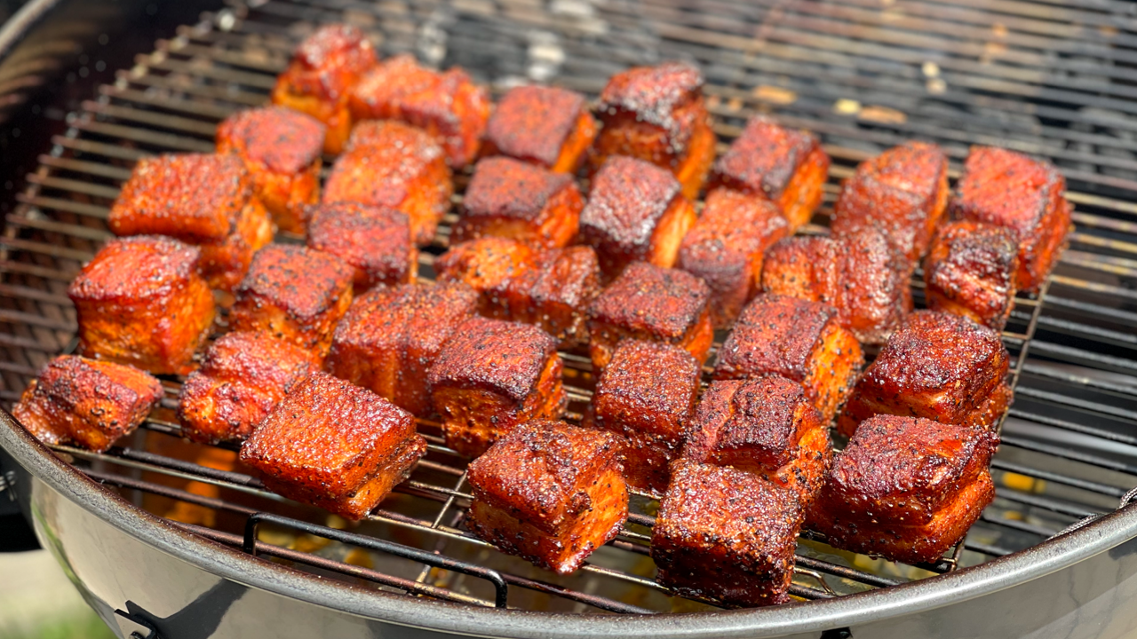 Smoked Pork Belly Burnt Ends Recipe | SnS Grills