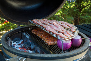 Create a Second Level of Grill Space with the Elevated Cooking Grate from SnS Grills