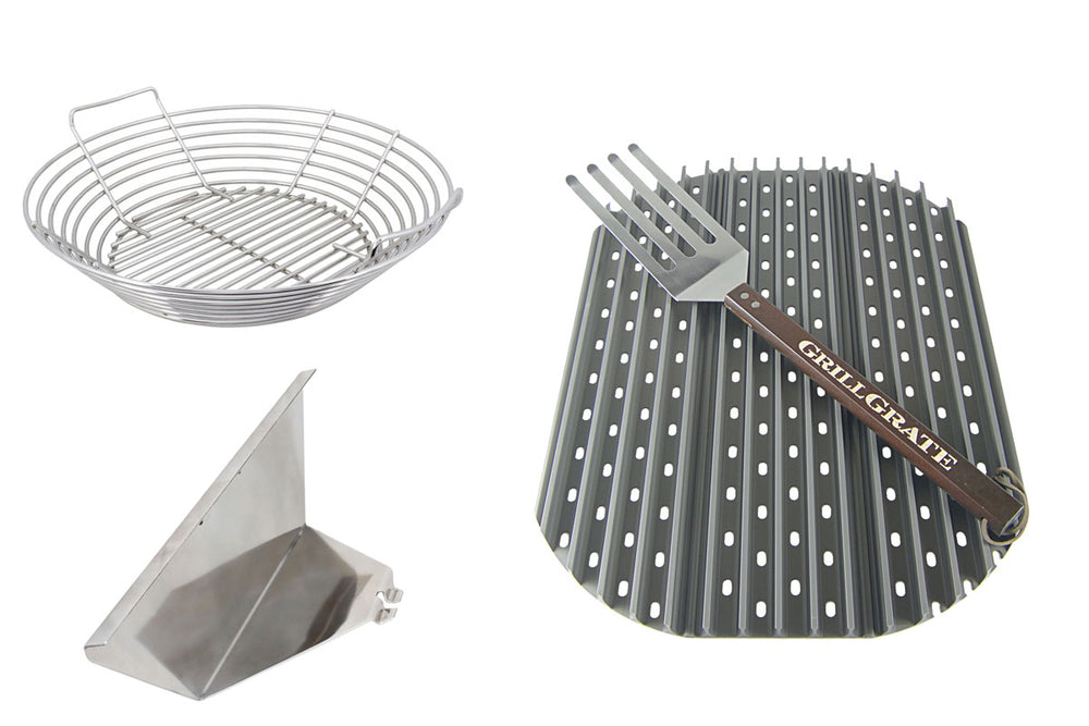 The Slow 'N Sear Kamado grill accessory bundle from SnS Grills
