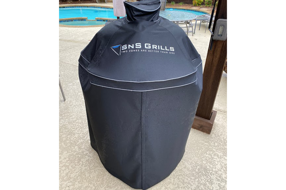 The Slow 'N Sear Kamado grill cover from SnS Grills