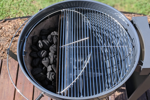 The Slow 'N Sear® Deluxe Kettle Grill gives you all the performance you'd expect from a kettle style charcoal grill and comes with our Slow 'N Sear® Deluxe accessory for unrivaled searing power, low 'n slow smoking, and true two-zone cooking capability.