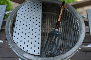 Direct Grilling at Higher Temperatures! This half-moon shape covers 45% of the grill's surface, and works great directly above the Slow 'N Sear.