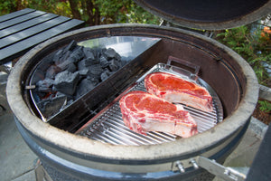 The Drip 'N Griddle Pan is a Kettle Grill Accessory that does Double Duty from SnS Grills