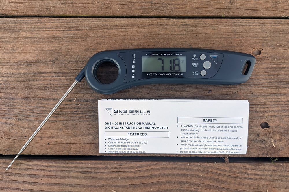 Get the most accurate temperature in a matter of seconds with the SnS-100 Instant Read Digital Thermometer.
