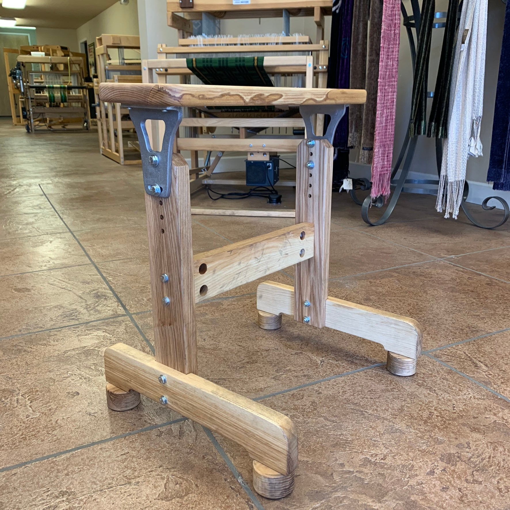 Wooden Bench (adjustable height)
