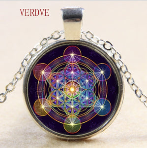 Metatron Cube Pendant Necklace, Sacred Geometry