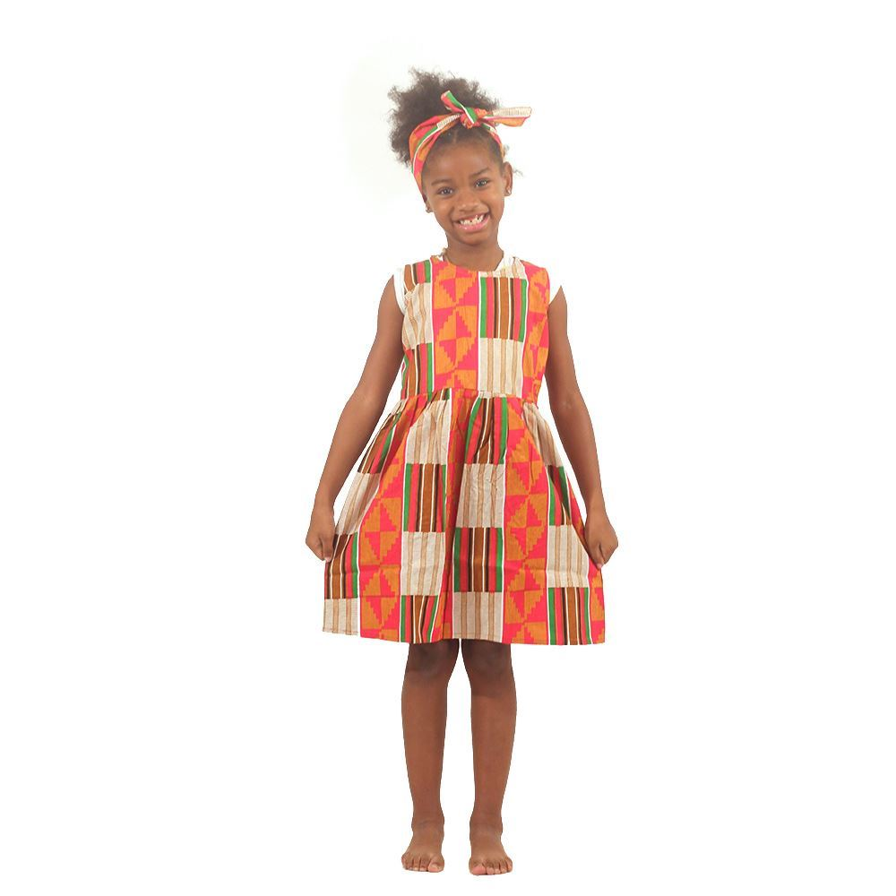 Girl's Kente Dress