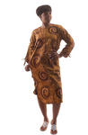 African Print Zipper Dress
