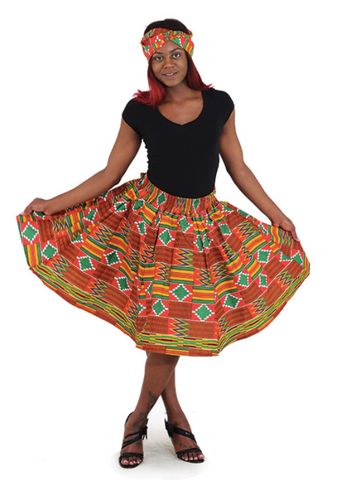Kente Short Skirt