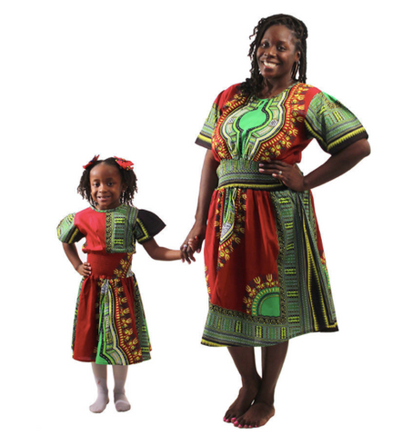 Traditional Mother & Daughter dress set