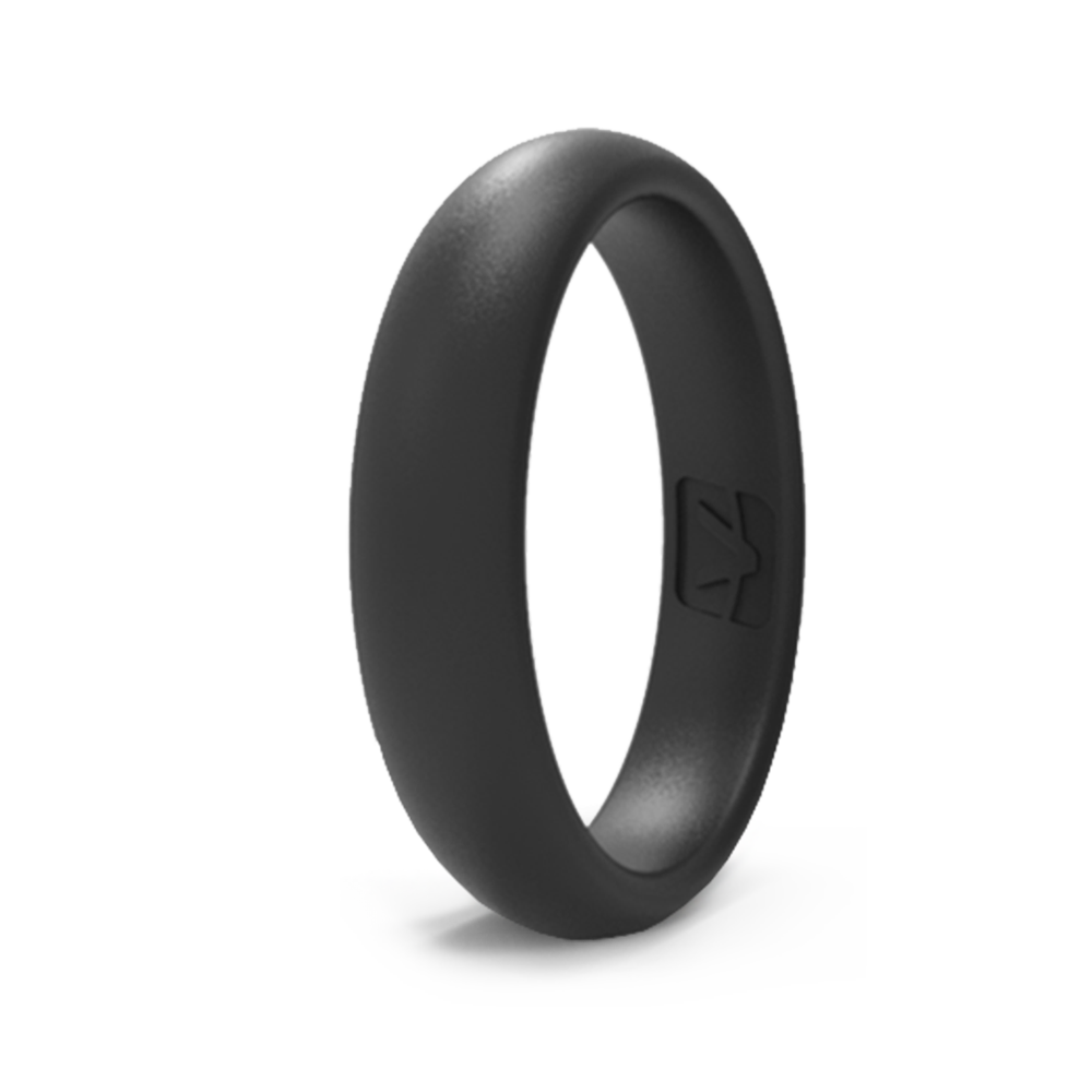 Classic Collection Silicone Ring - Thin - Obsidian