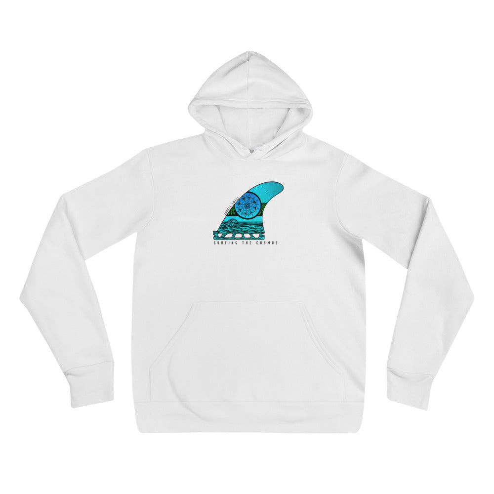 Surfing the Cosmos Surfboard Fin Hoodie