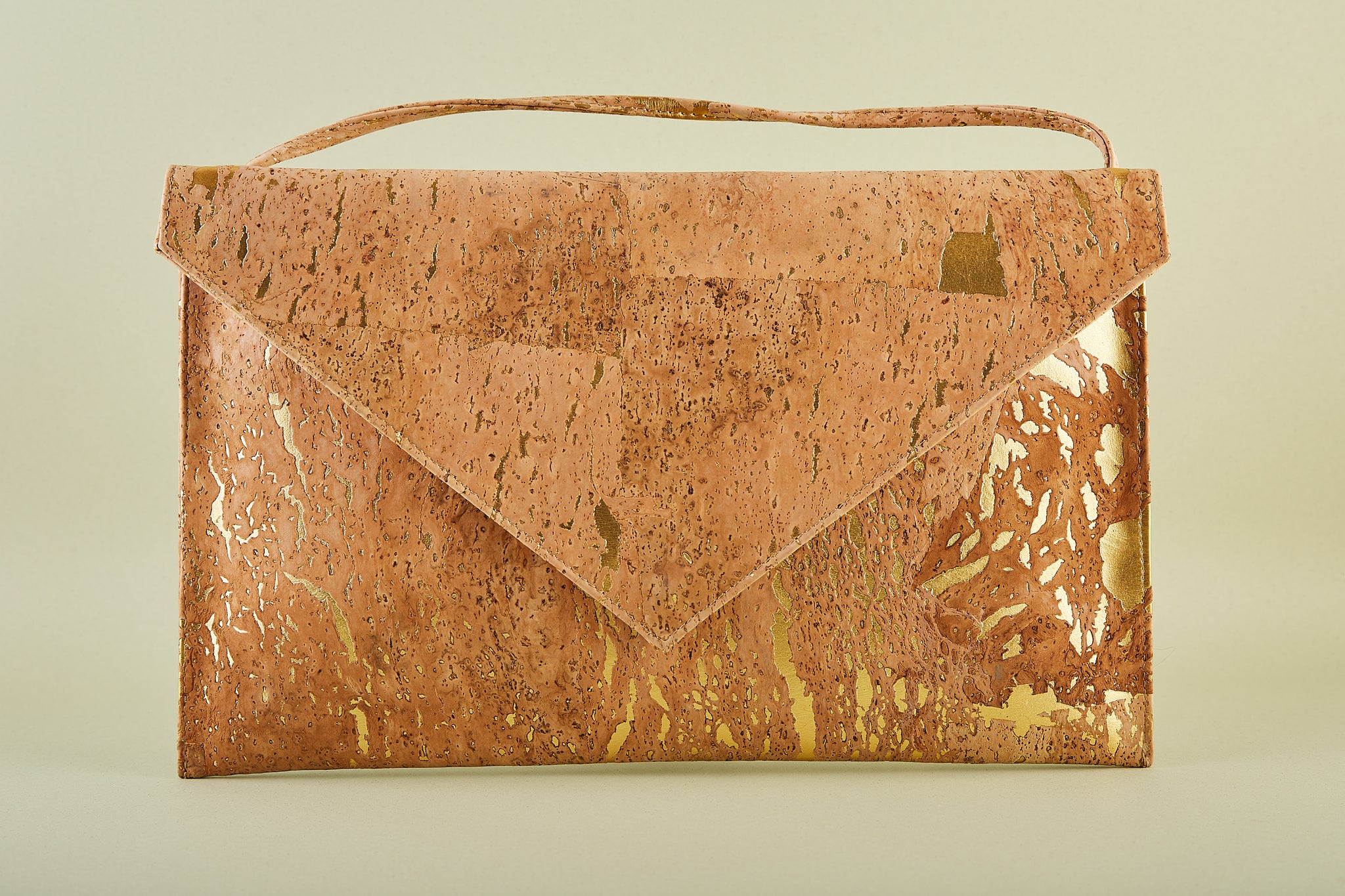 Pamela Large Envelope Clutch in Gold by Raw Angel Apparel