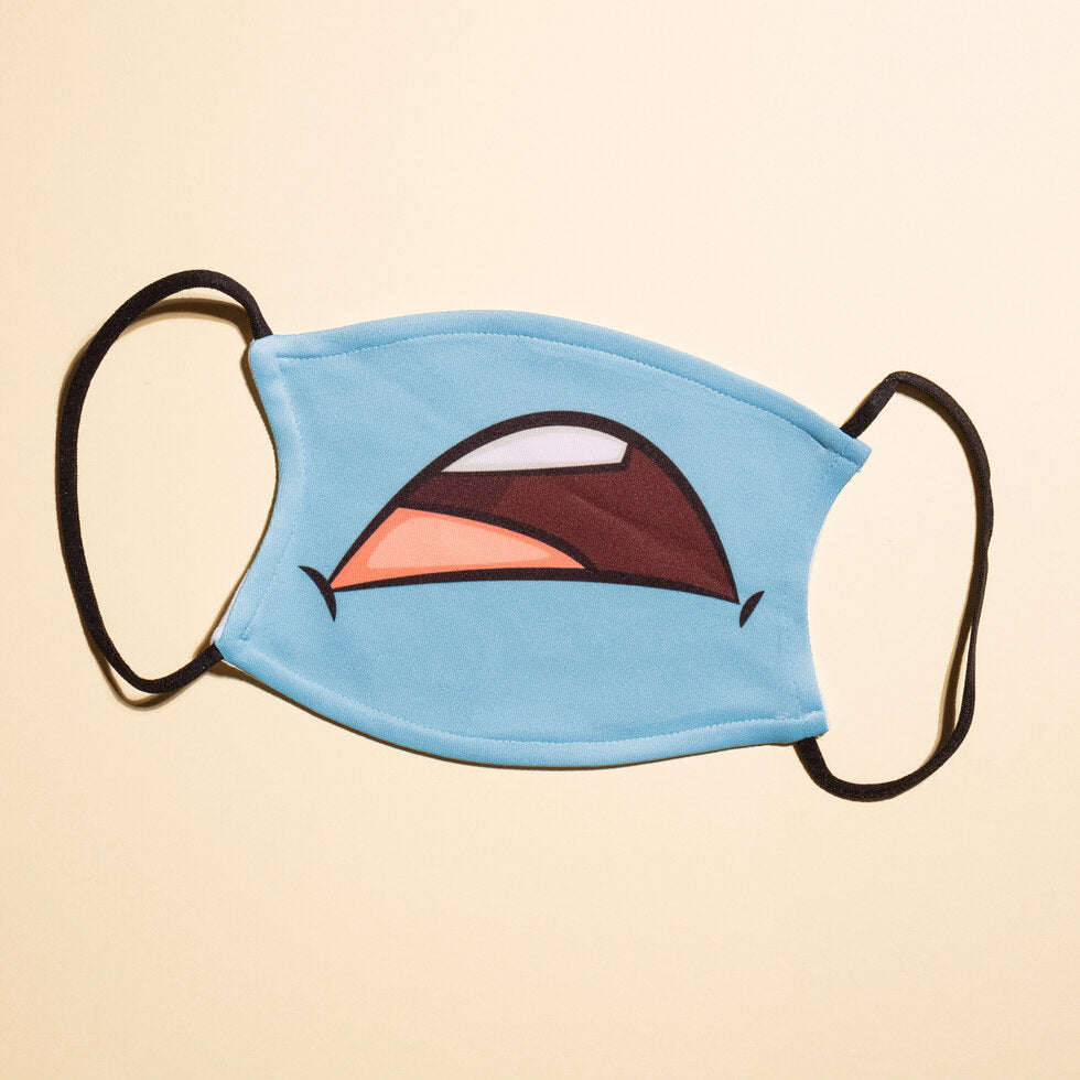 Cartoon Reusable Face Masks - Sad