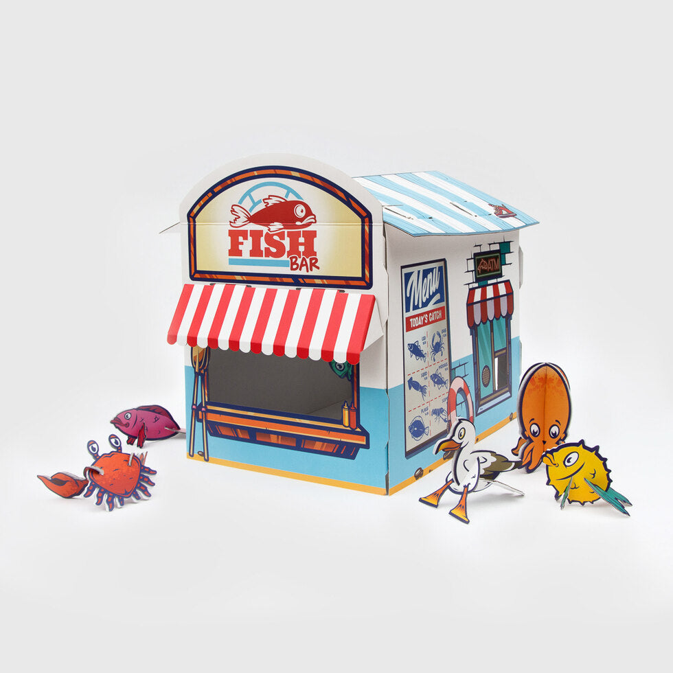 Fish & Chip Shop Cat Playhouse