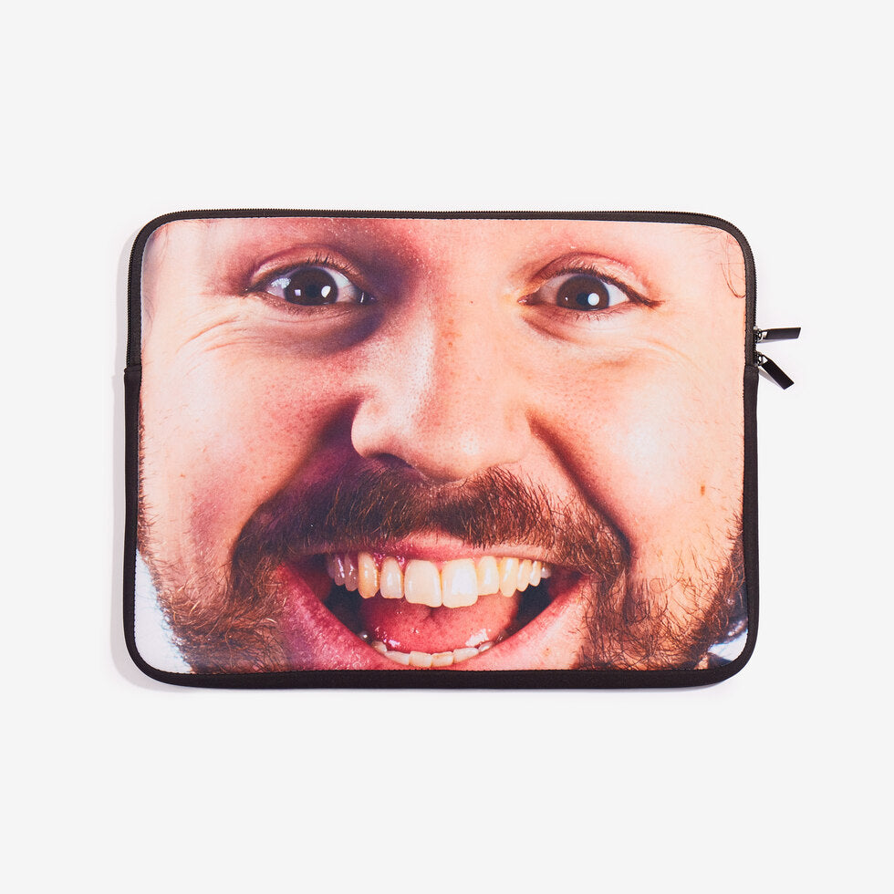 Tech Head - Personalised Laptop Case - Big Face 17 inch