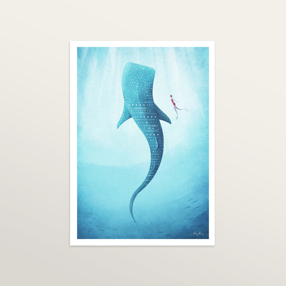 Whaleshark - Art Print - large A2 print only
