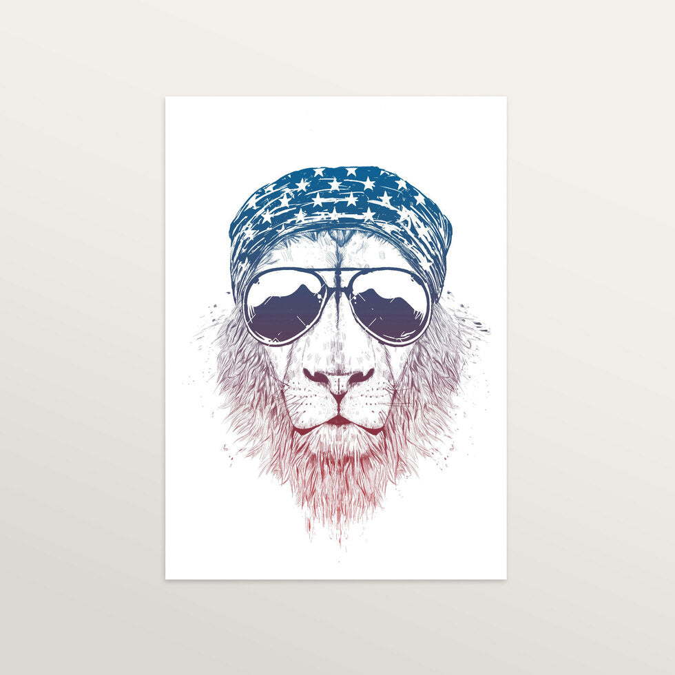 Wild Lion - Art Print - large A2 print only