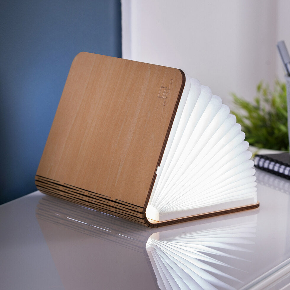 Wooden Smart Book Lights - Maple