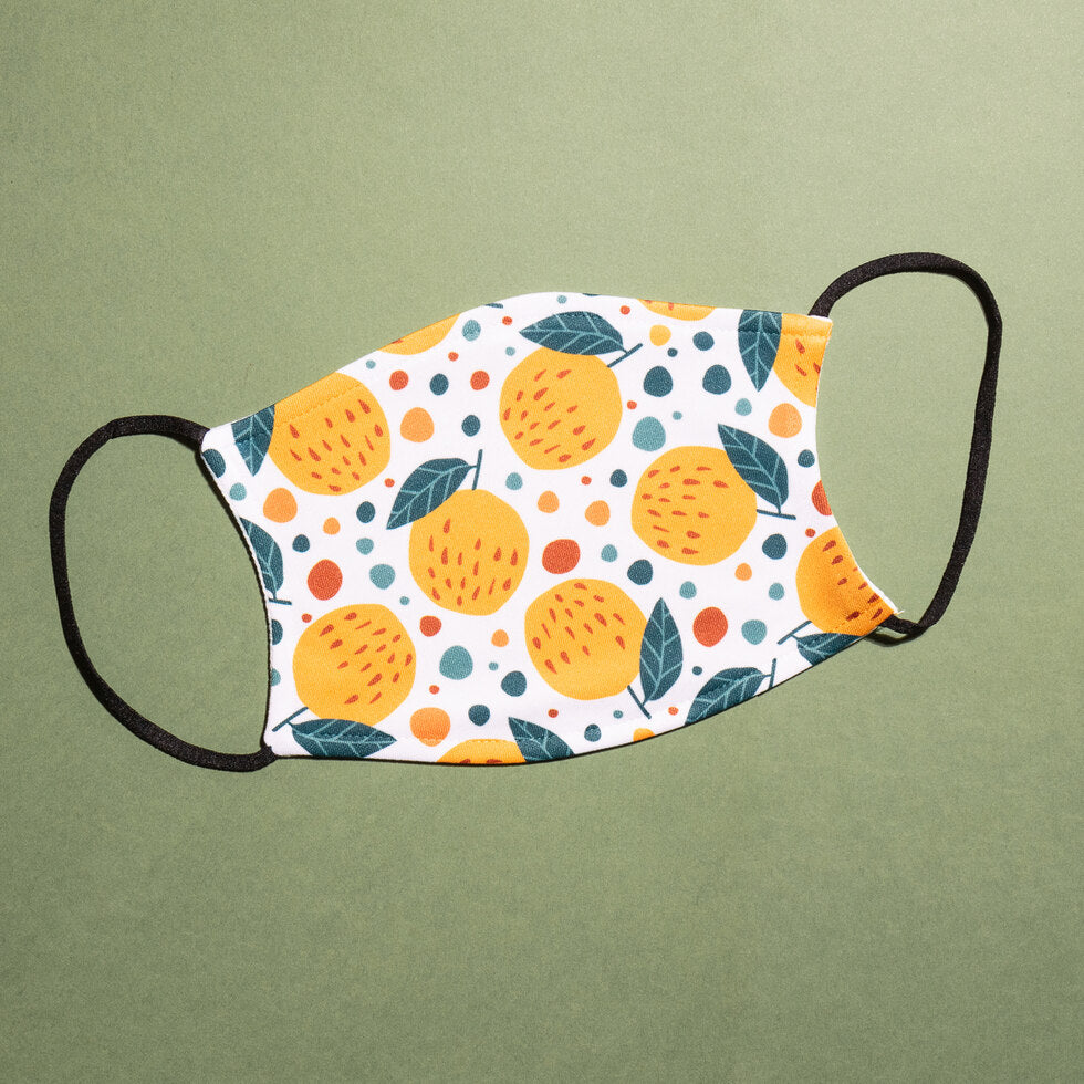 Fruity Reusable Face Masks - Clementines