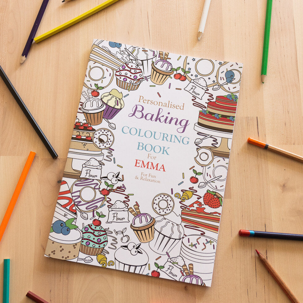 Personalised Colouring Books - Baking