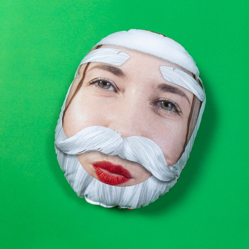 Santa Yourself Mushion - Personalised Face Cushion