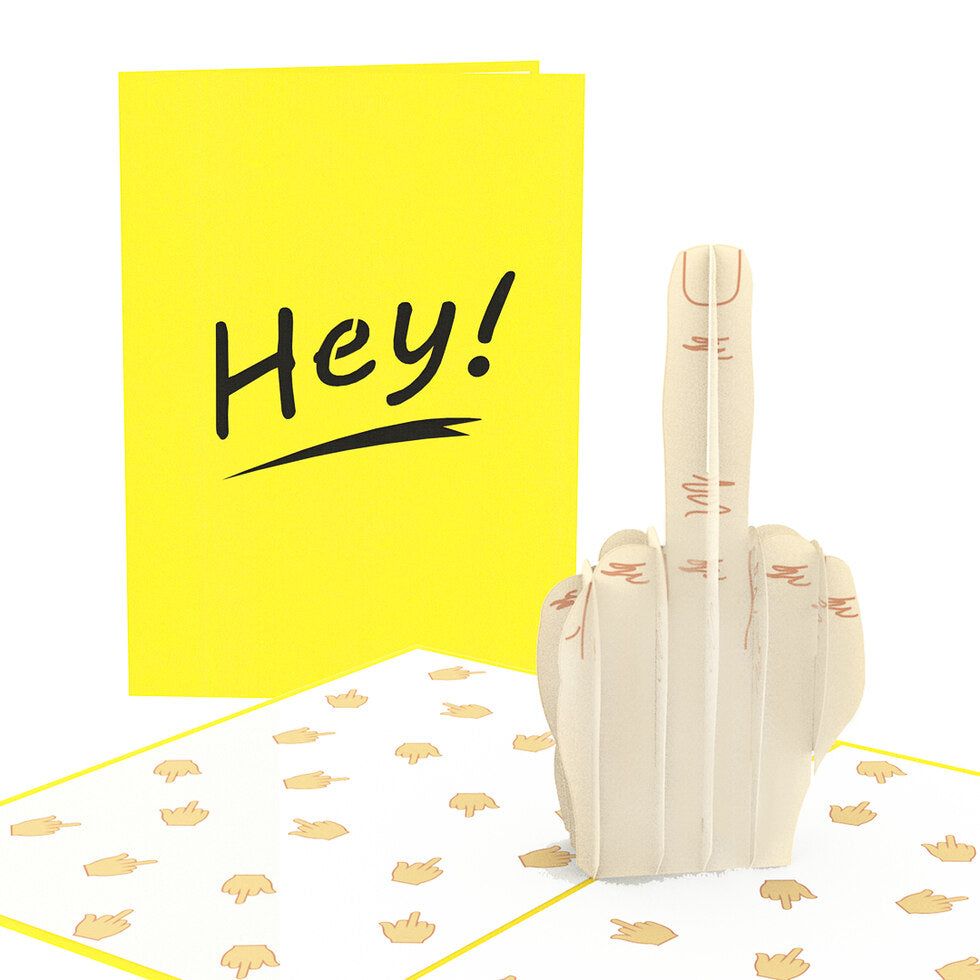 Dirty Pop Greeting Cards - Hey, F*ck You!