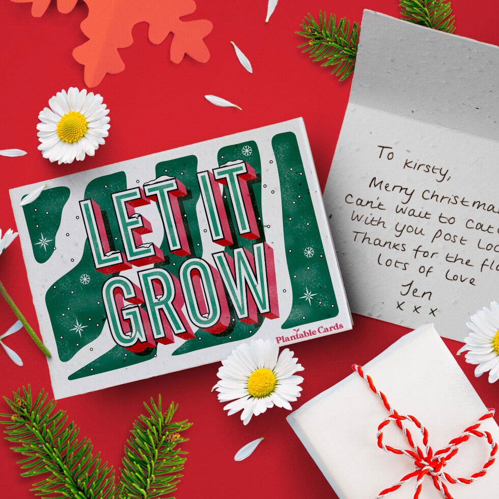 Plantable Christmas Card - Eco Friendly Seed Paper