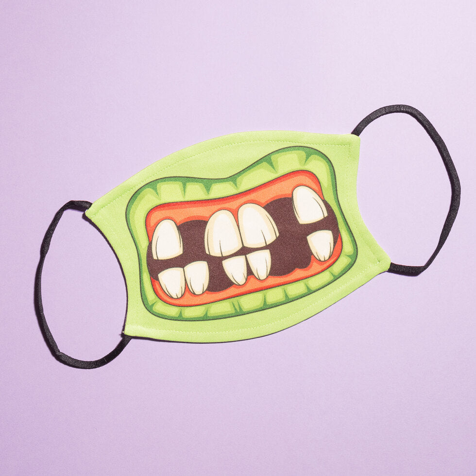 Cartoon Reusable Face Masks - Zombie
