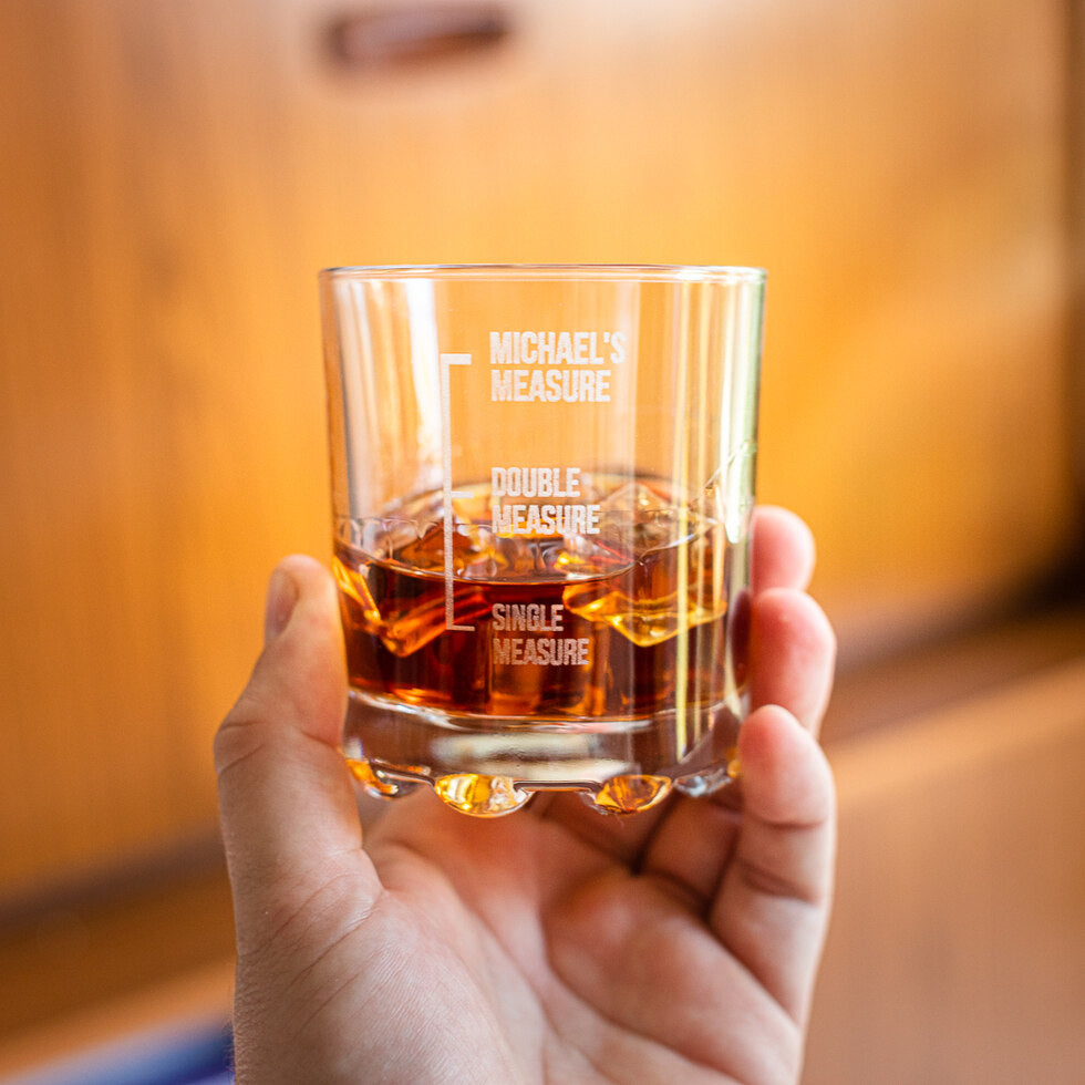 Personalised Measures Whisky Glass