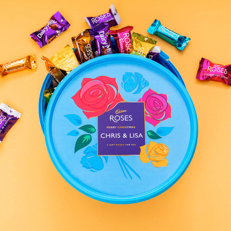 Personalised Cadbury Roses Tub