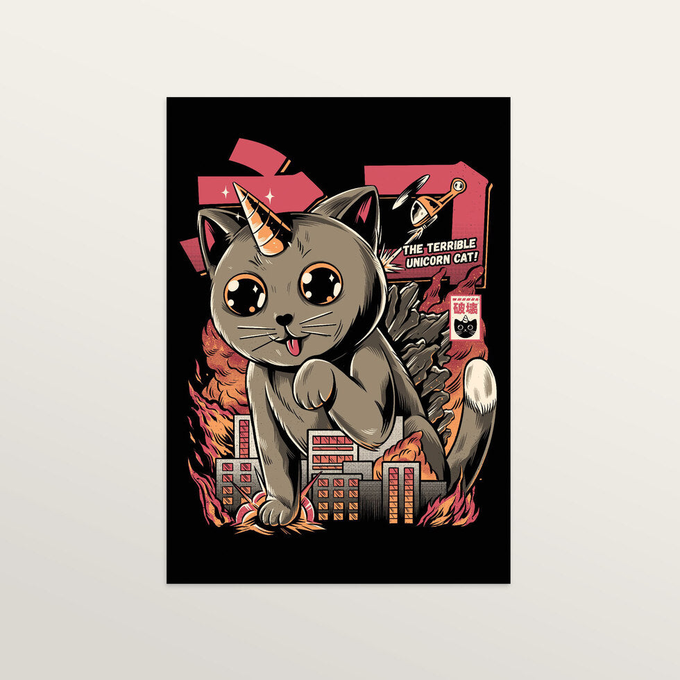 Catzilla - Art Print - large A2 print only