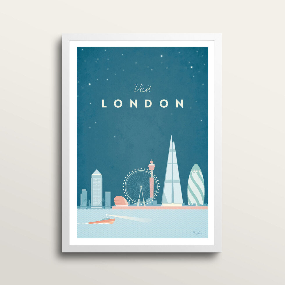 London - Art Print - in large A2 white frame