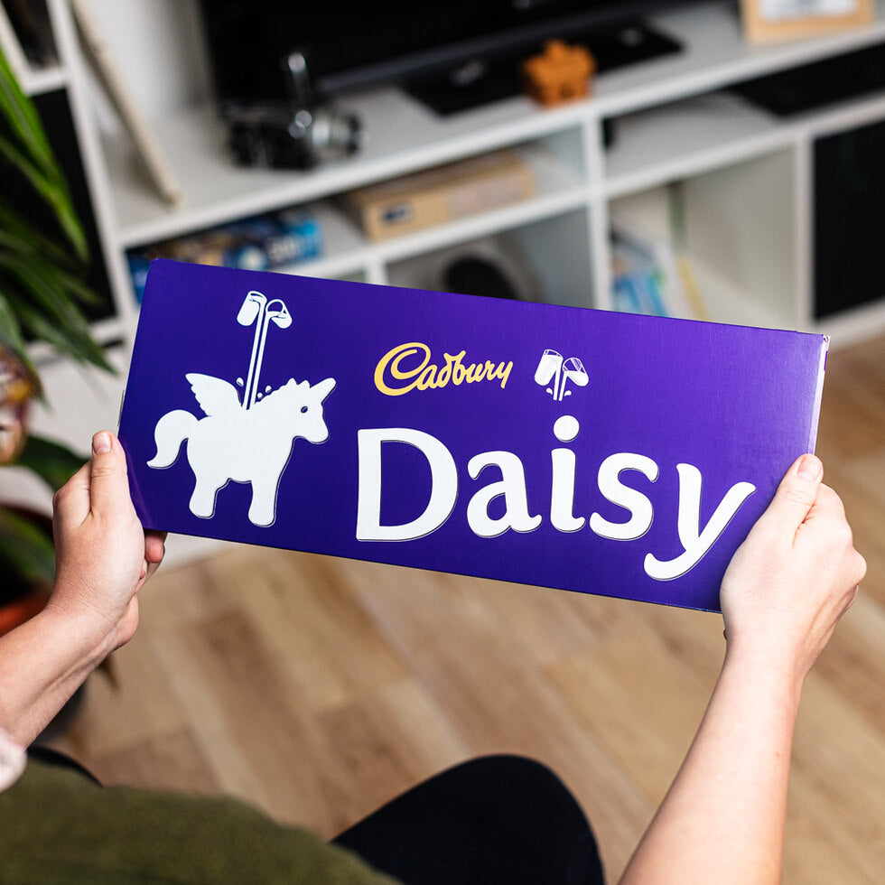 Personalised Christmas Cadbury Dairy Milk 850g - Unicorn Emoji