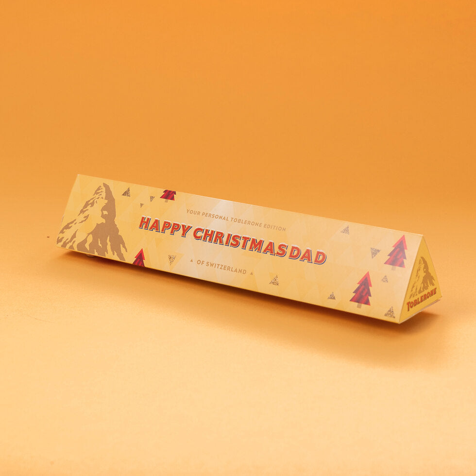 Personalised Christmas Toblerone
