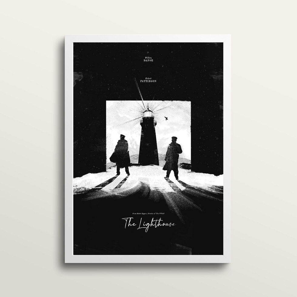 The Lighthouse - Art Print - in large A2 white frame