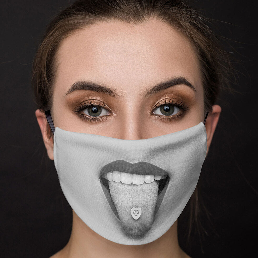 Firebox™ Reusable Face Masks - Smiley Tongue