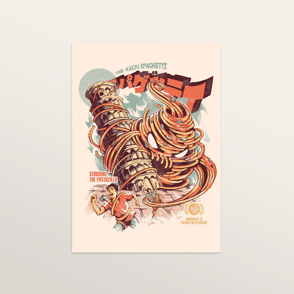 The Kaiju Spaghetti - Art Print - medium A3 print only