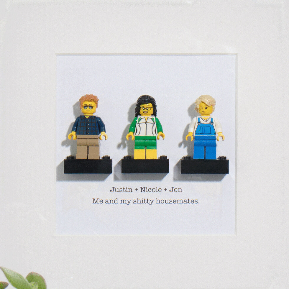 Brick Yourself™ - Personalised Mini Figures - Threesome