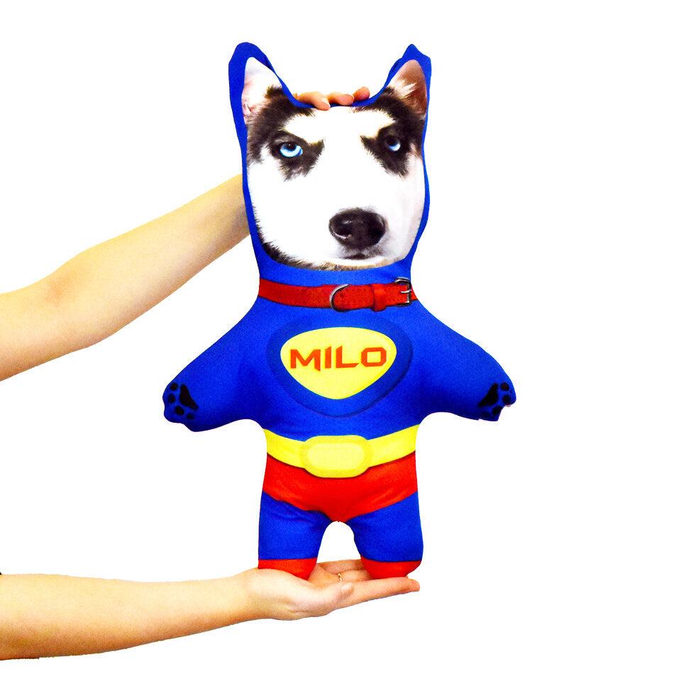 Pet Mini Me Superhero Dog - Personalised Doll