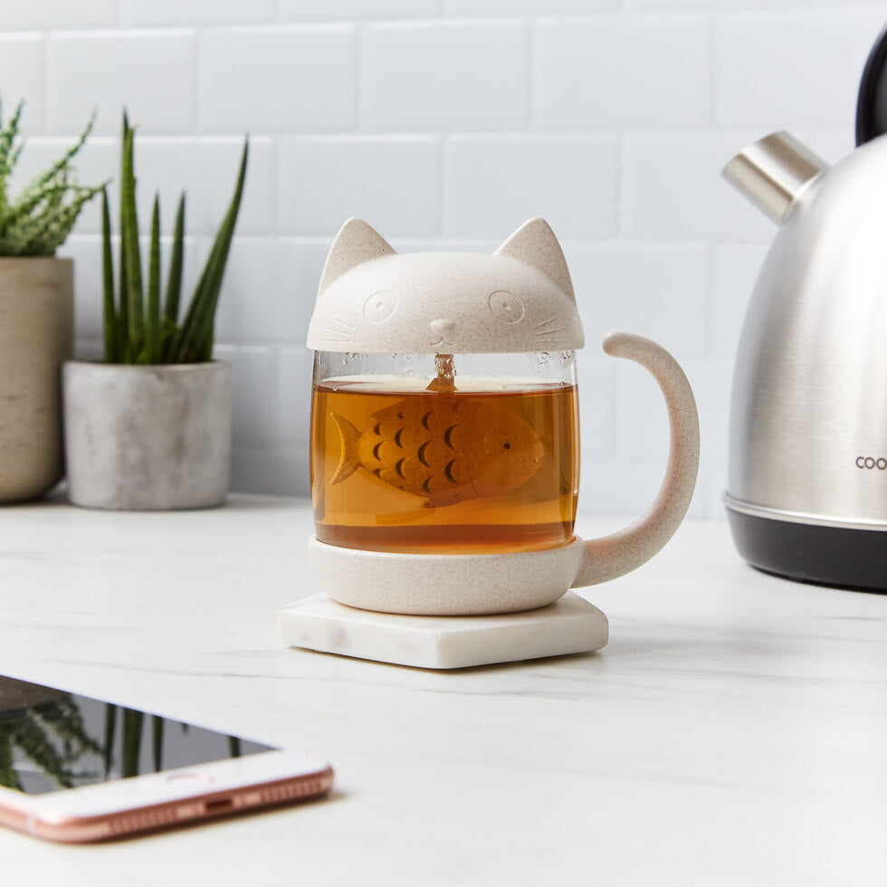 Cat Loose Leaf Tea Mug