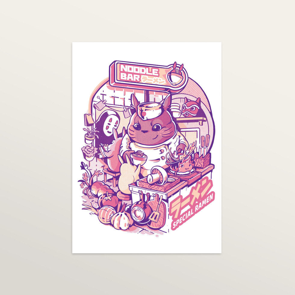 My Neighbor Noodle Bar - Art Print - large A2 print only