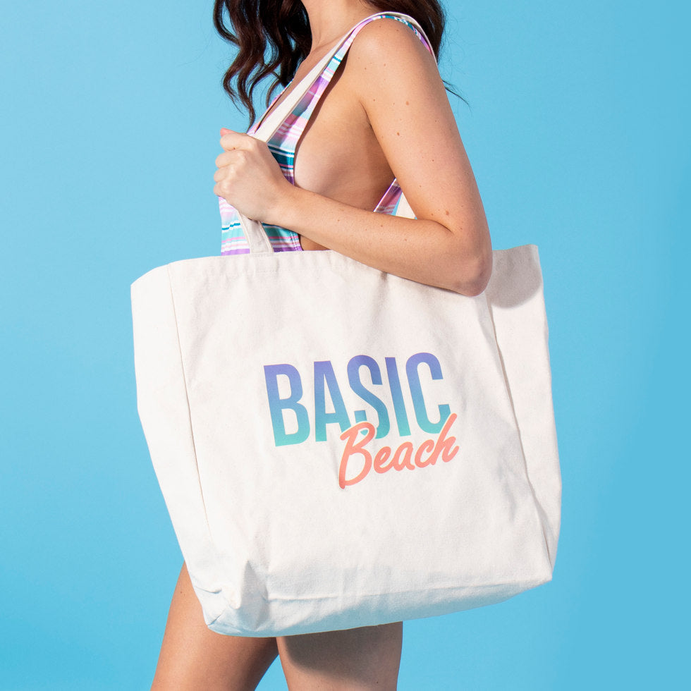 Basic Beach Large Tote Bag