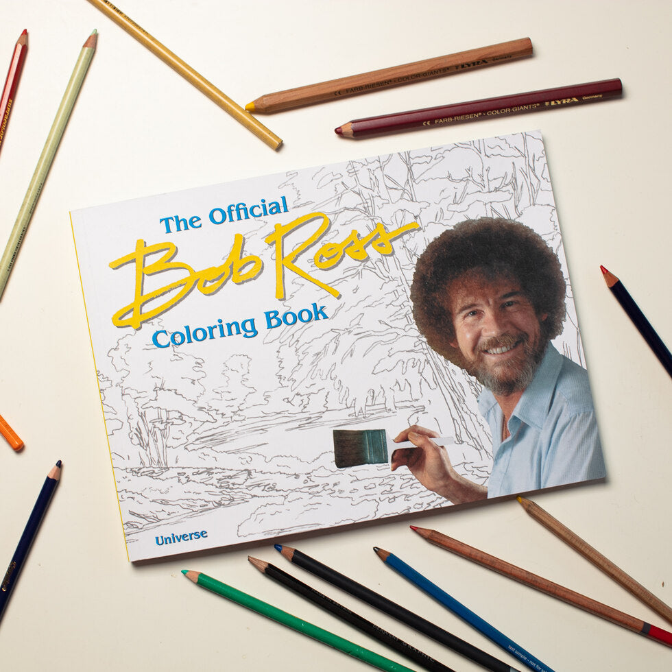 The Official Bob Ross Colouring Book